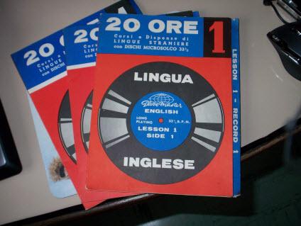 L'antenato del corso 20 ORE Digital Edition ossia il corso 20 ORE su dischi in vinile, uscito negli anni sessanta